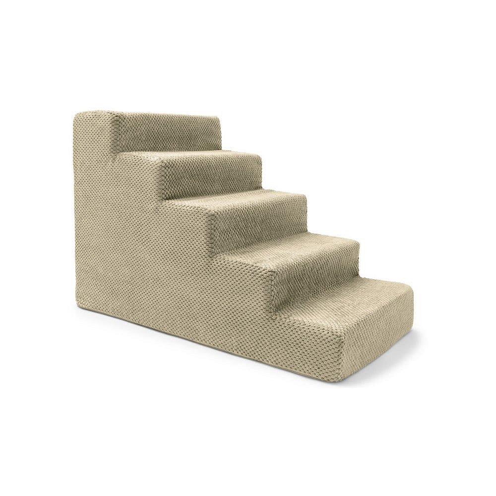 Béžové schody pro psy a kočky Marendog Stairs, 40 x 75 x 50 cm