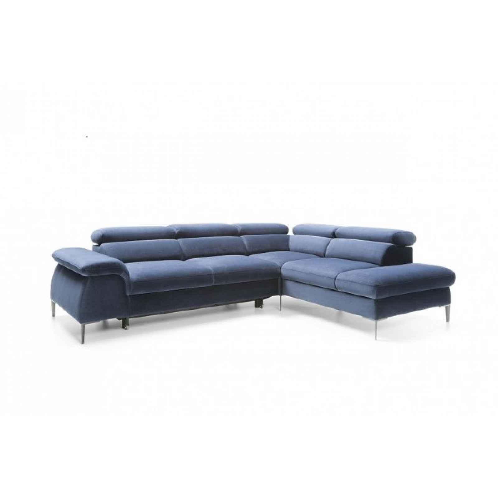 Rohová sedačka rozkládací Berg pravý roh ÚP modrá