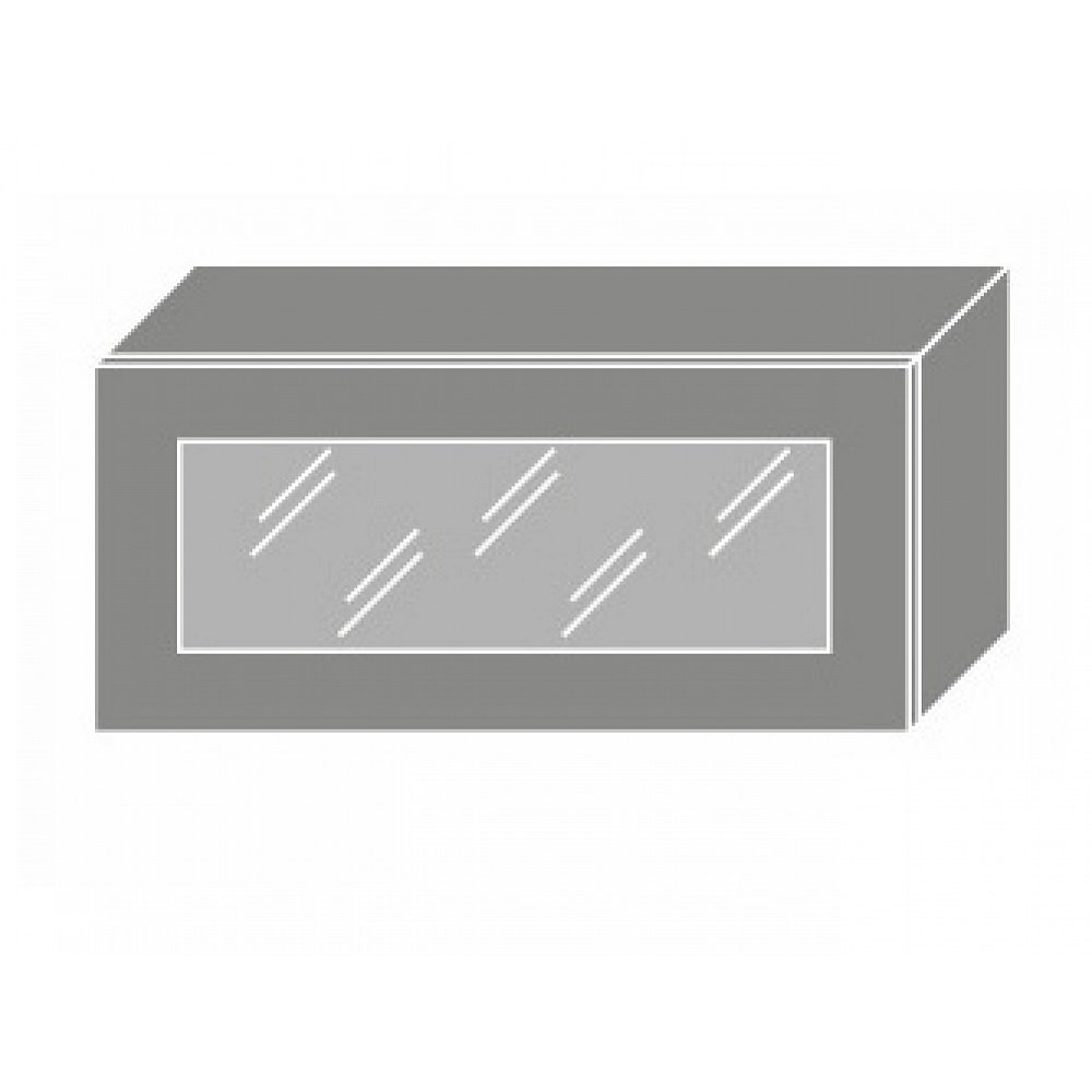 TITANIUM, skříňka horní W4bs 80 WKF, korpus: lava, barva: fino černé