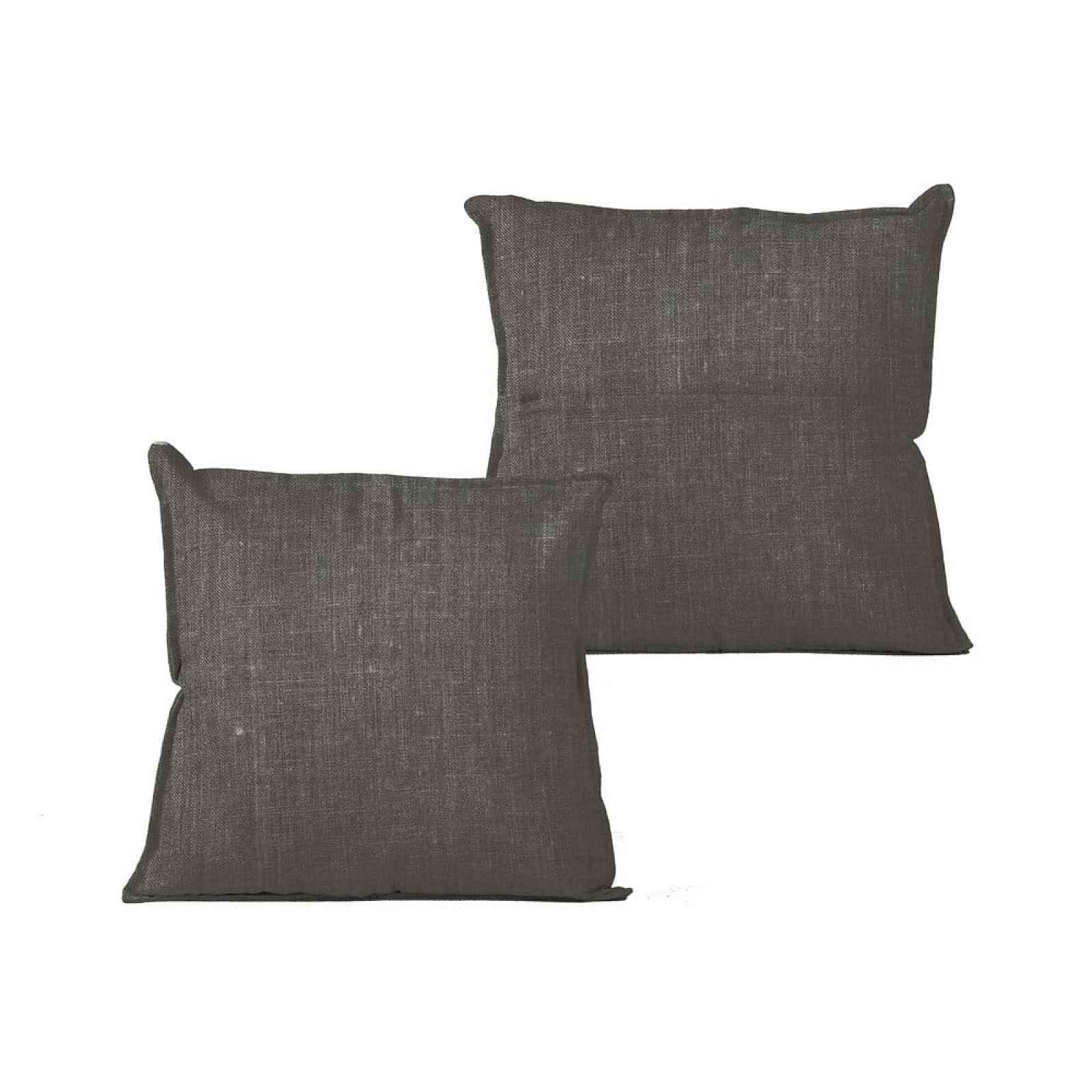 Tmavě zelený polštář Linen Couture Grey,45x45cm