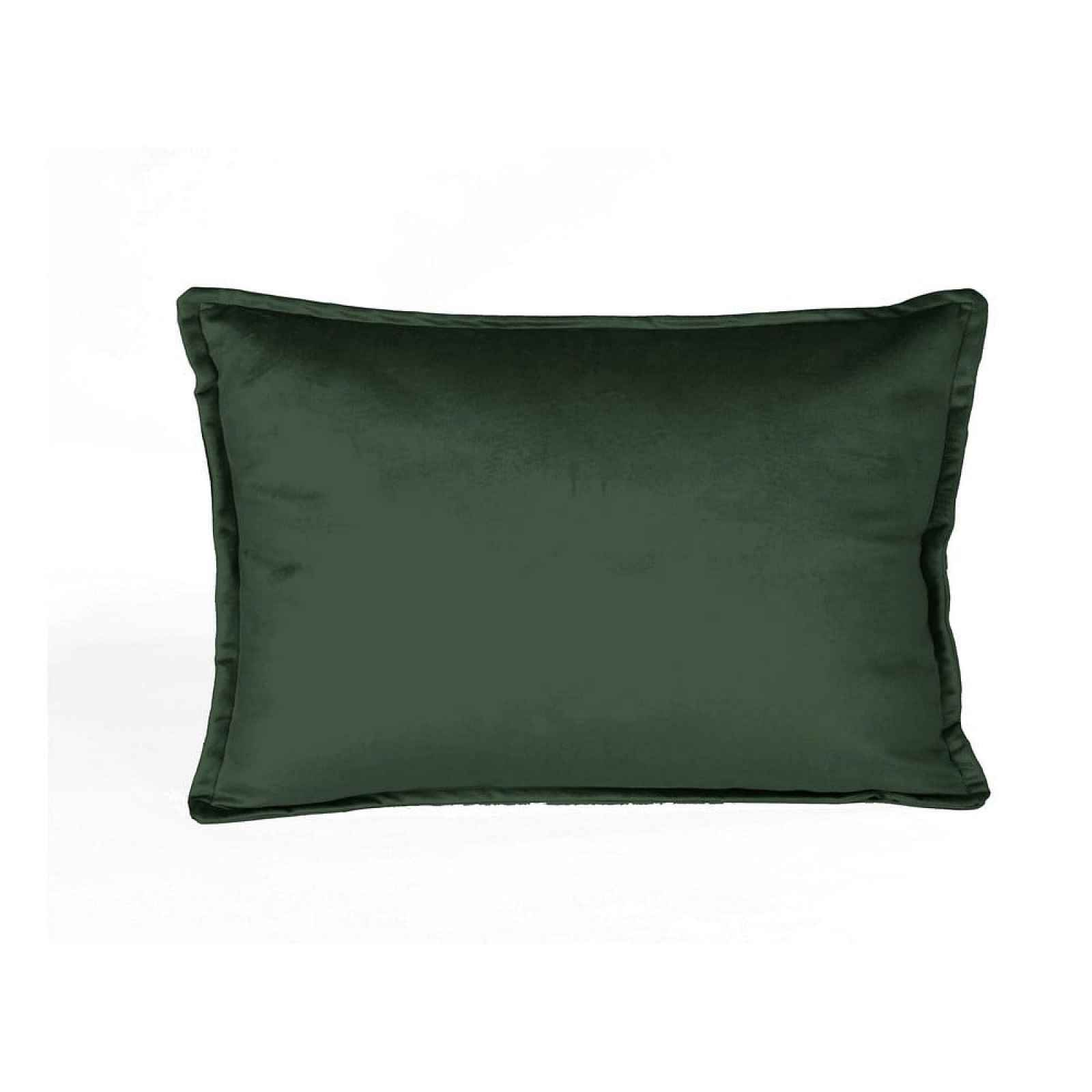 Tmavě zelený sametový polštář Velvet Atelier Dark,50x35cm