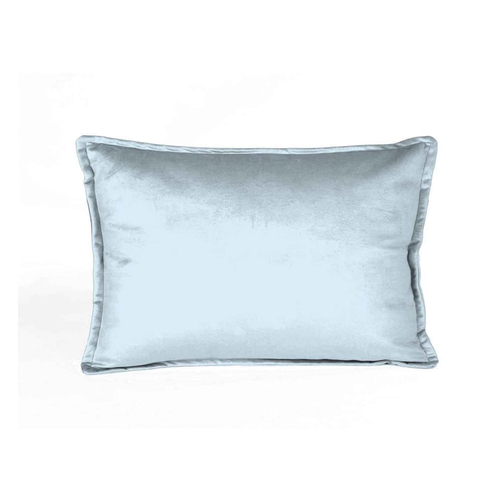 Světle modrý sametový polštář Velvet Atelier Terciopelo,50x35cm