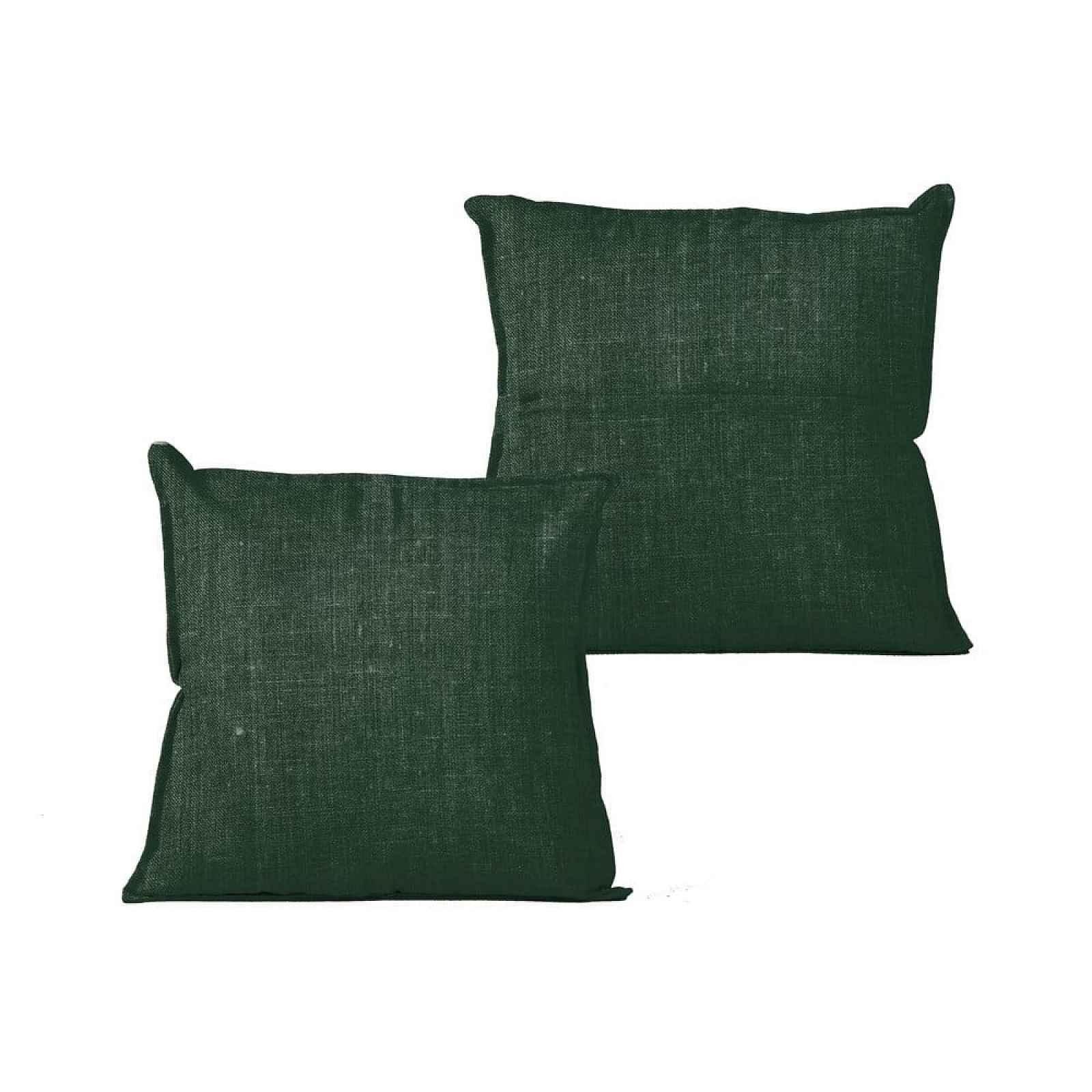 Zelený polštář Linen Couture Moss,45x45cm