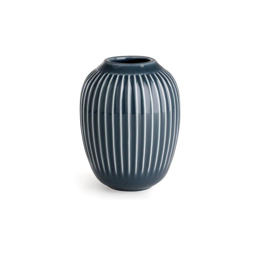 Antracitová kameninová váza Kähler Design Hammershoi,výška 10 cm