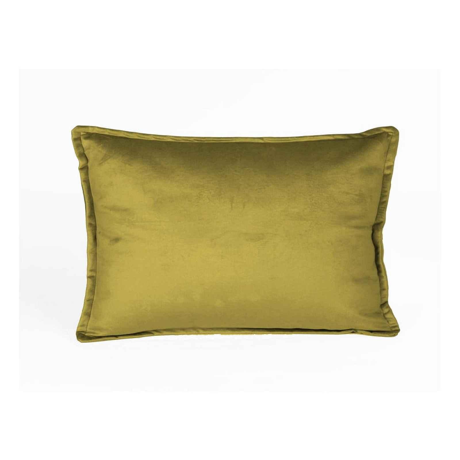 Sametový polštář ve zlaté barvě Velvet Atelier Golden,50x35cm