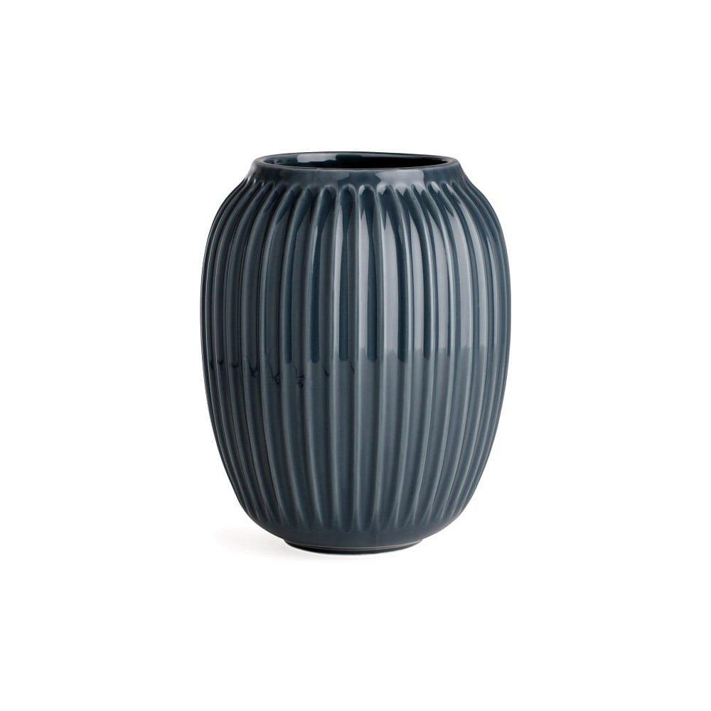 Antracitová kameninová váza Kähler Design Hammershoi,výška 20 cm