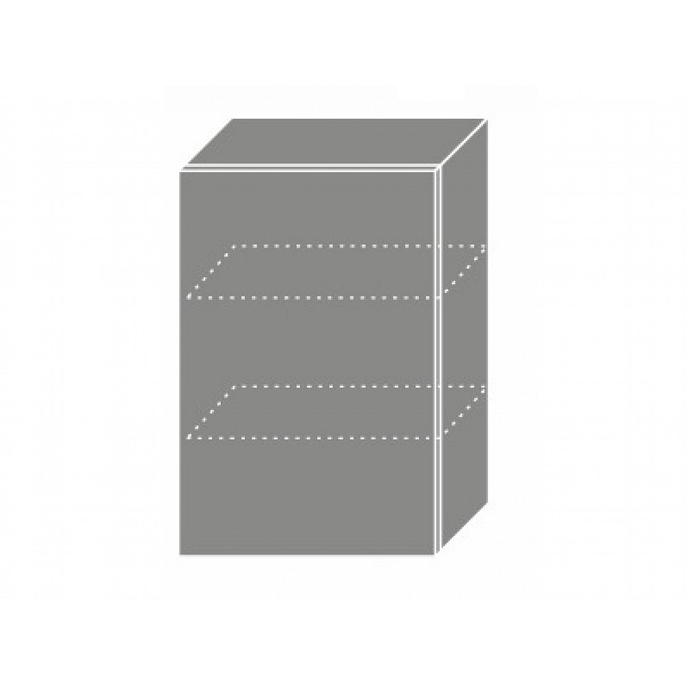 TITANIUM, horní skříňka W2 50, korpus: lava, barva: fino bílé