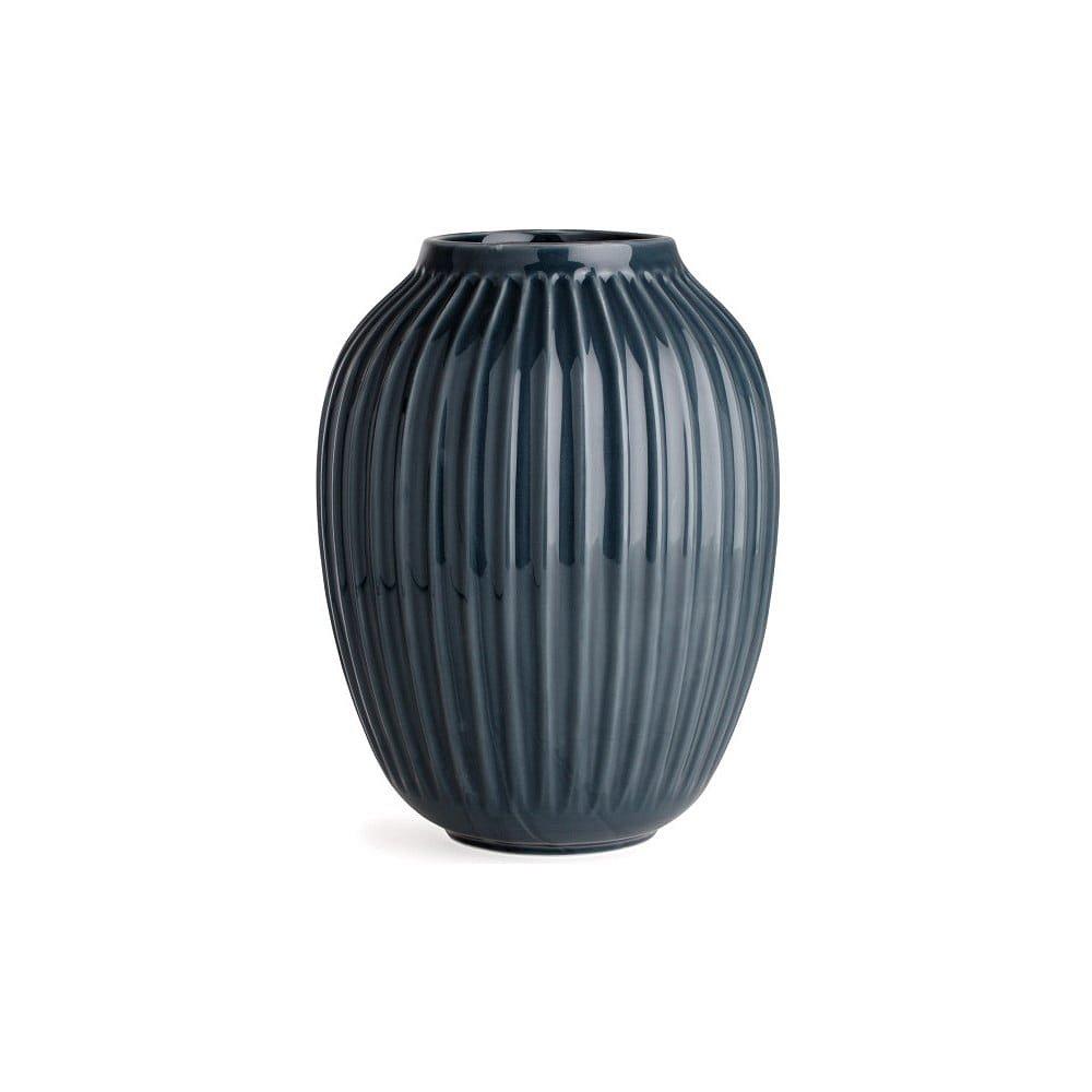 Antracitová kameninová váza Kähler Design Hammershoi,výška 25 cm
