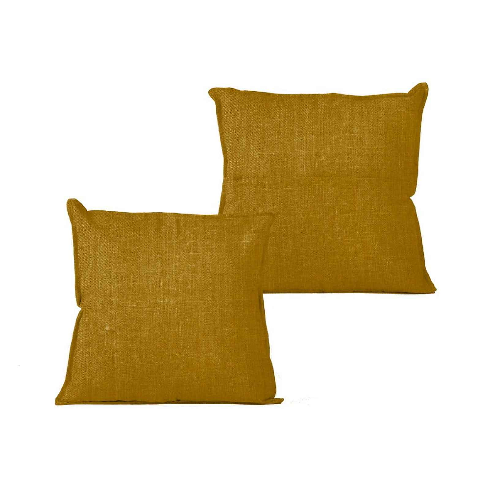Hořčičný polštář Linen Couture Mustard,45x45cm