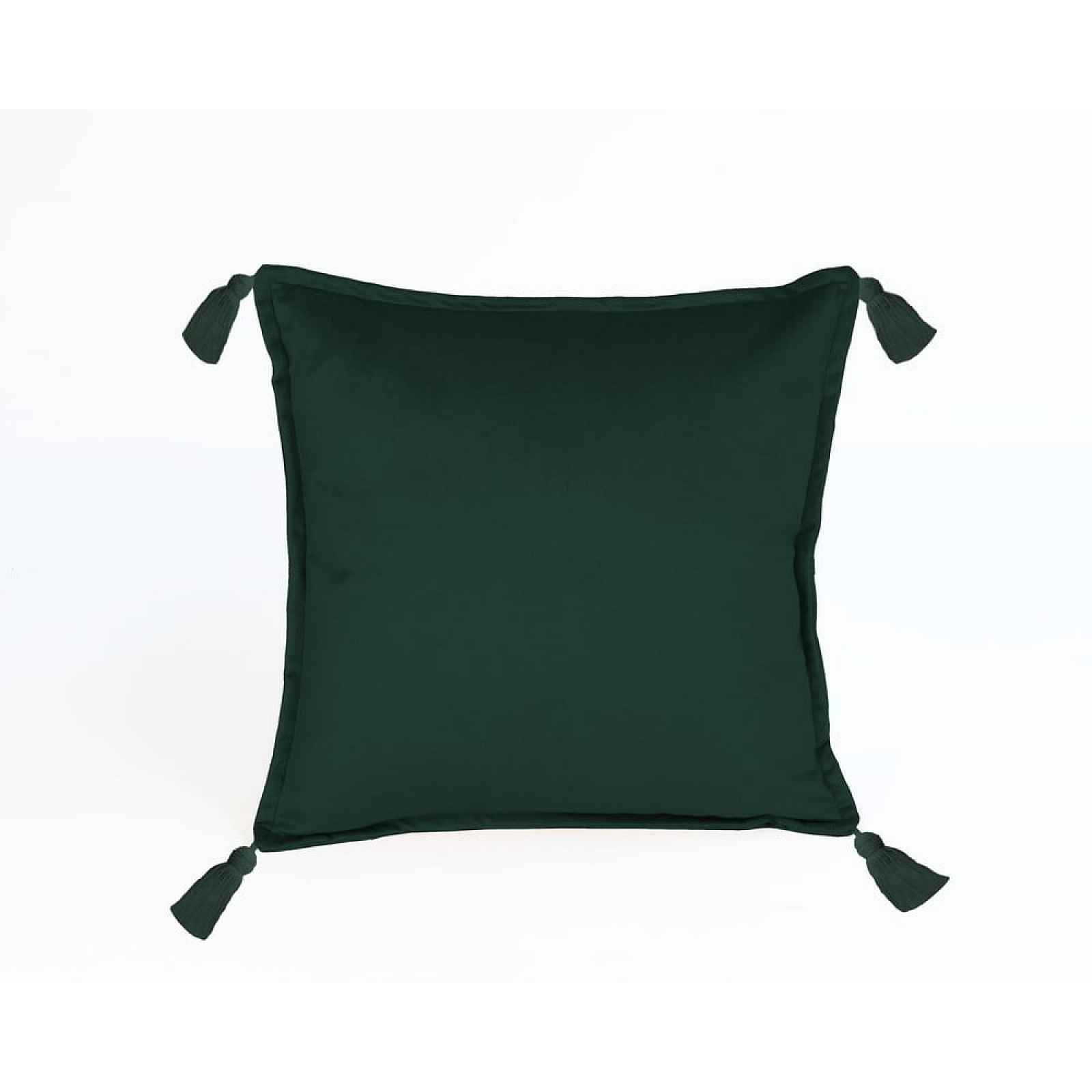 Tmavě zelený sametový polštář Velvet Atelier Borlas,45x45cm