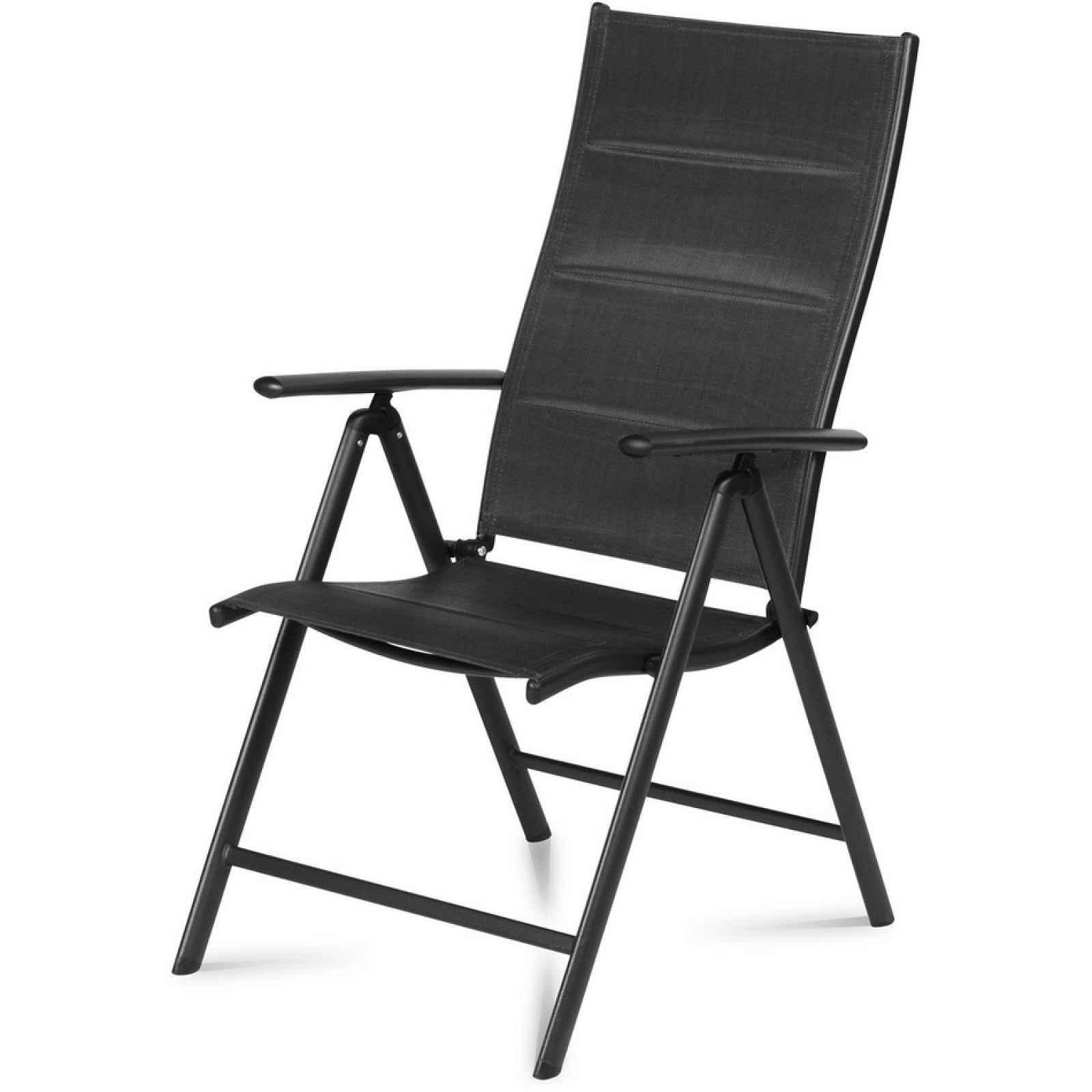 Černá zahradní židle 2 ks
