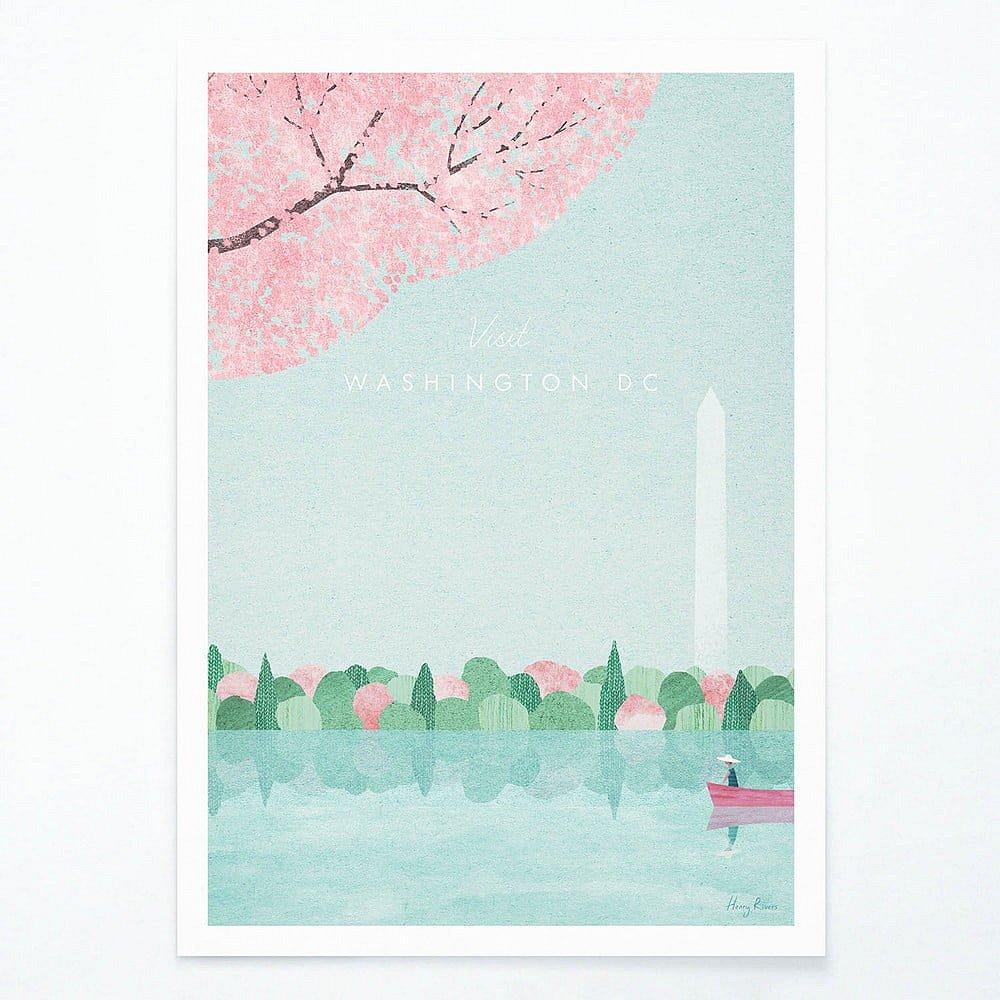 Plakát Travelposter Washington D.C., A2
