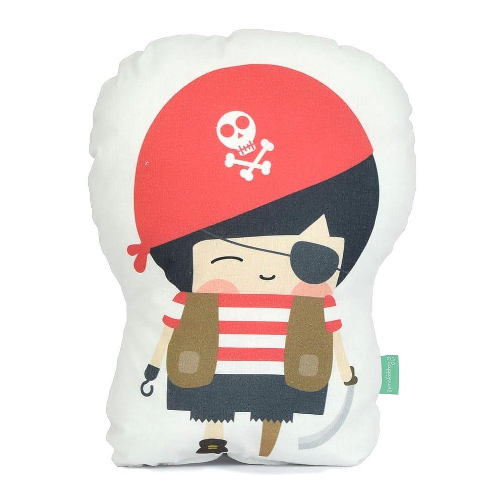 Polštářek z čisté bavlny Happynois Pirata, 40x30 cm