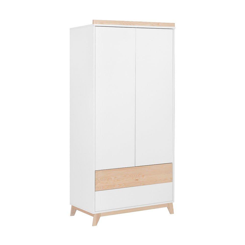 Bílá šatní skříň KICOTI Fun