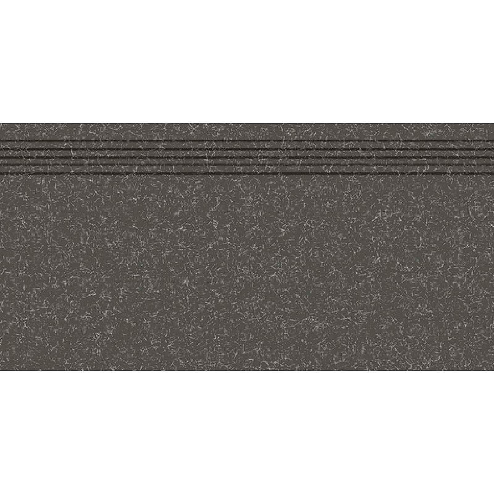 Schodovka RAKO Linka černá 30x60 cm mat DCPSE822.1