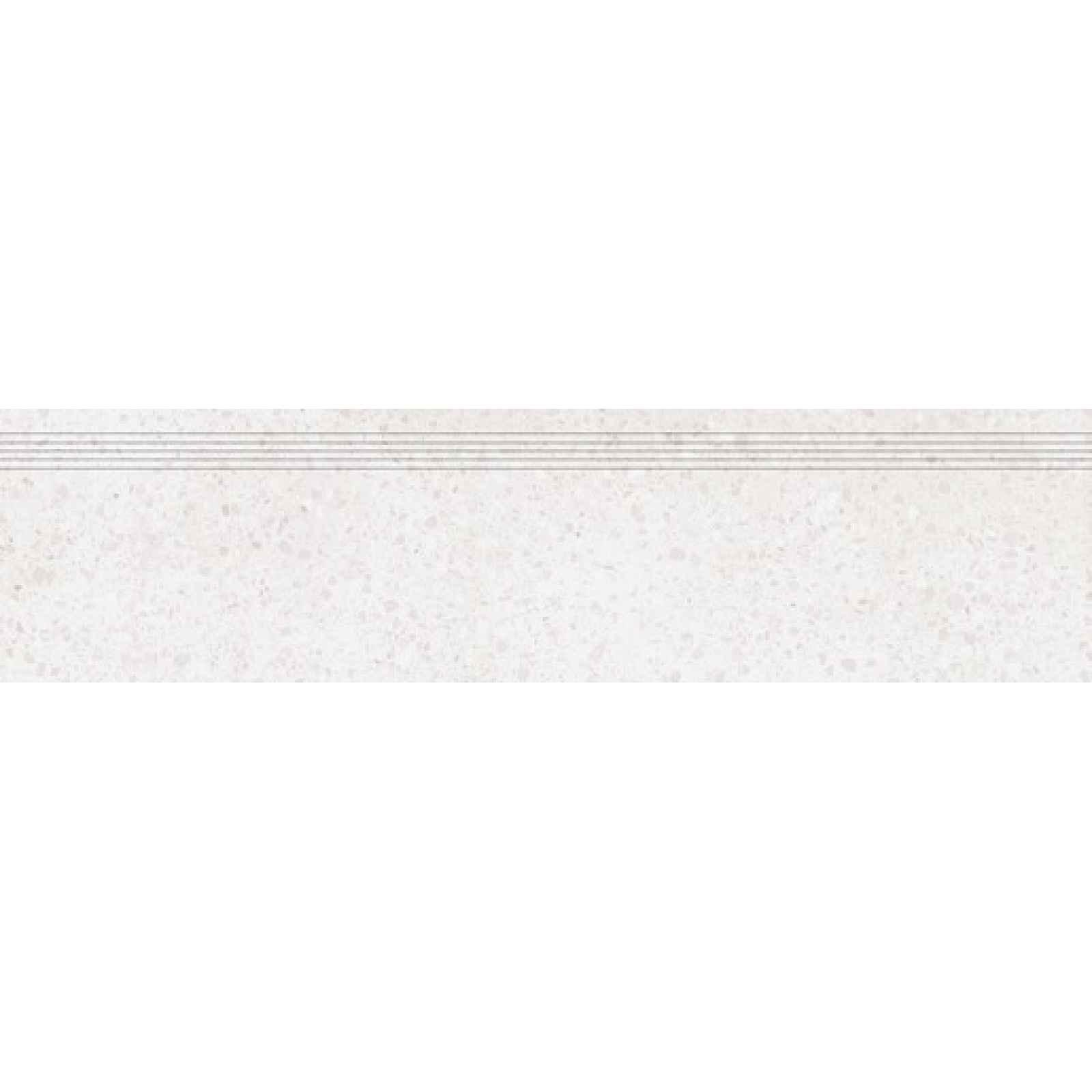 Schodovka RAKO Porfido bílá 30x120 cm mat / lesk DCPVF810.1