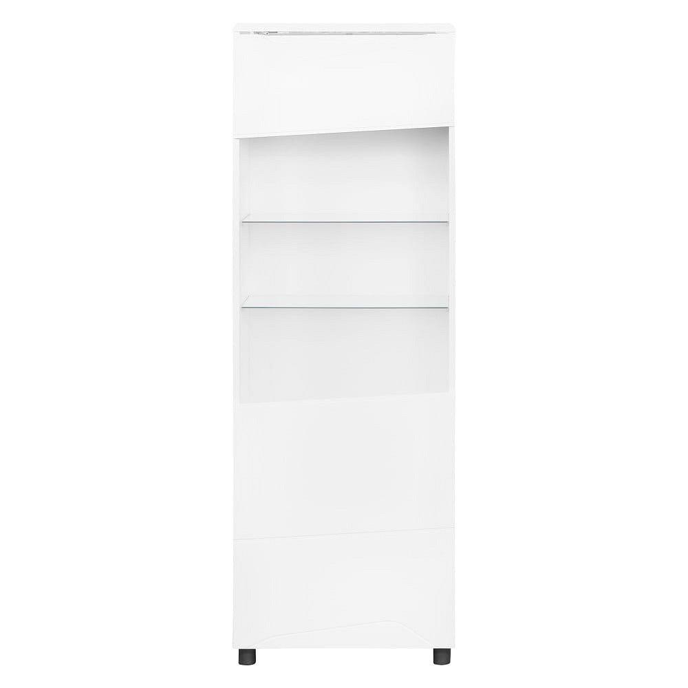 Bílá vitrína Artemob Newport, výška 168 cm