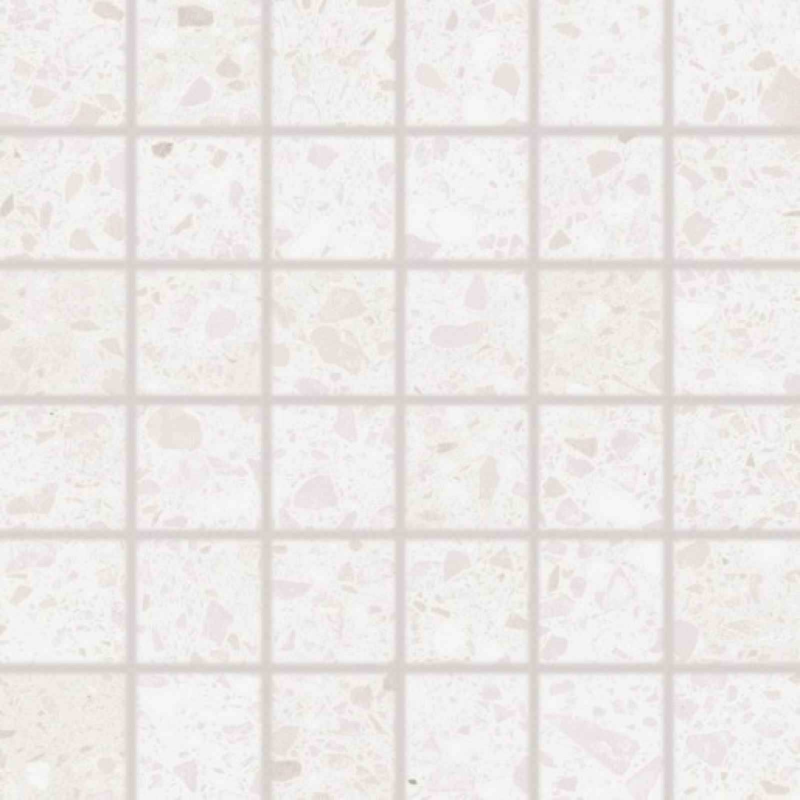 Mozaika RAKO Porfido bílá 30x30 cm mat / lesk DDM06810.1