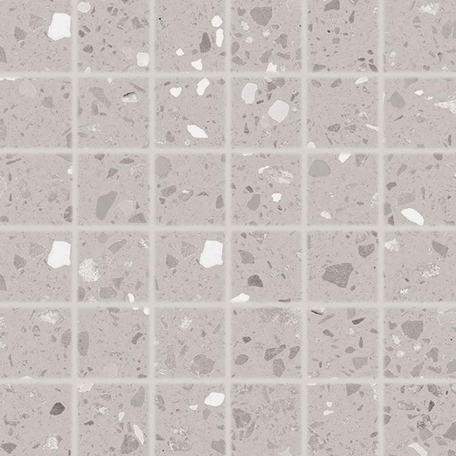Mozaika RAKO Porfido šedá 30x30 cm mat / lesk DDM06811.1