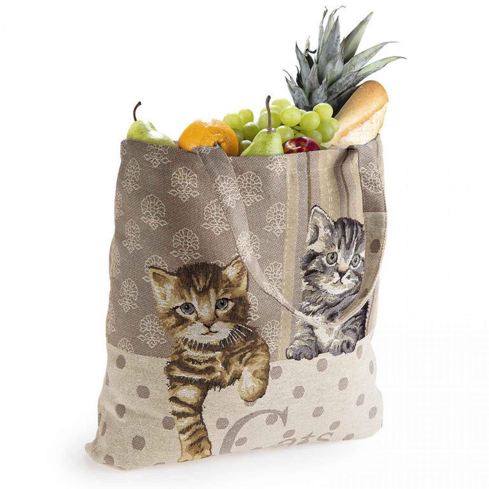 Textilní nákupní taška KOČKY