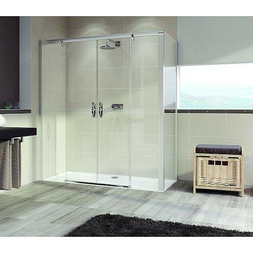Boční zástěna ke sprchovým dveřím 100x200 cm Huppe Aura elegance chrom lesklý 402208.092.322