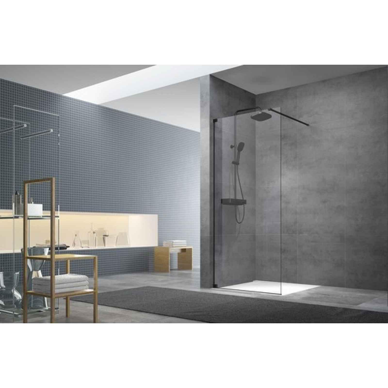 Sprchová zástěna walk-in Walk-In / dveře 110 cm s panty a zavětrováním Swiss Aqua Technologies Walk-in SATBWI110PAC