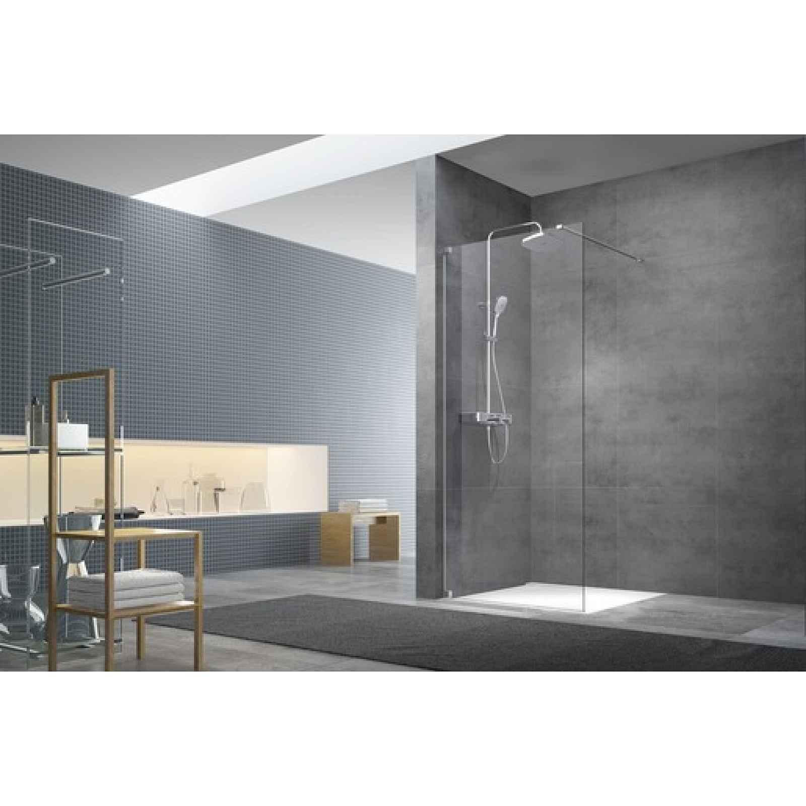 Sprchová zástěna walk-in Walk-In / dveře 140 cm s panty a zavětrováním Swiss Aqua Technologies Walk-in SATBWI140PA