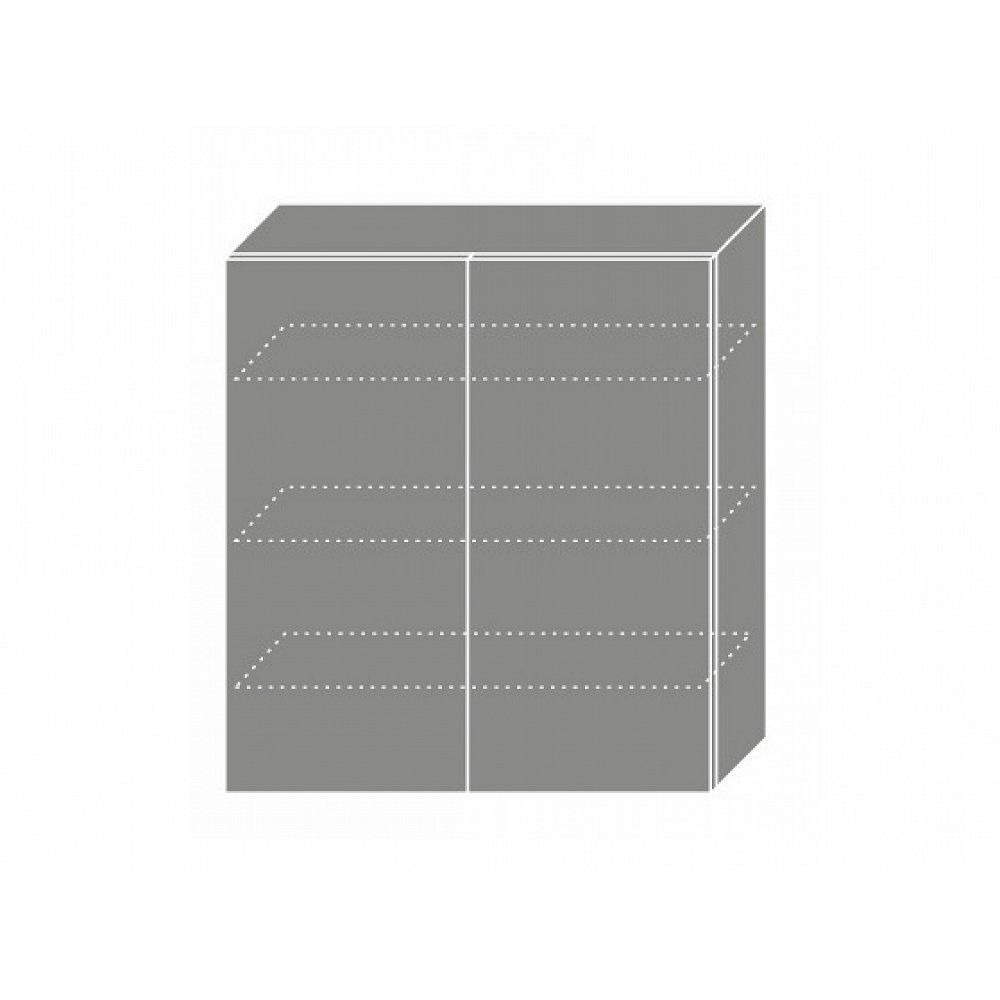 QUANTUM, skříňka horní W4 90, vanilla mat/bílá