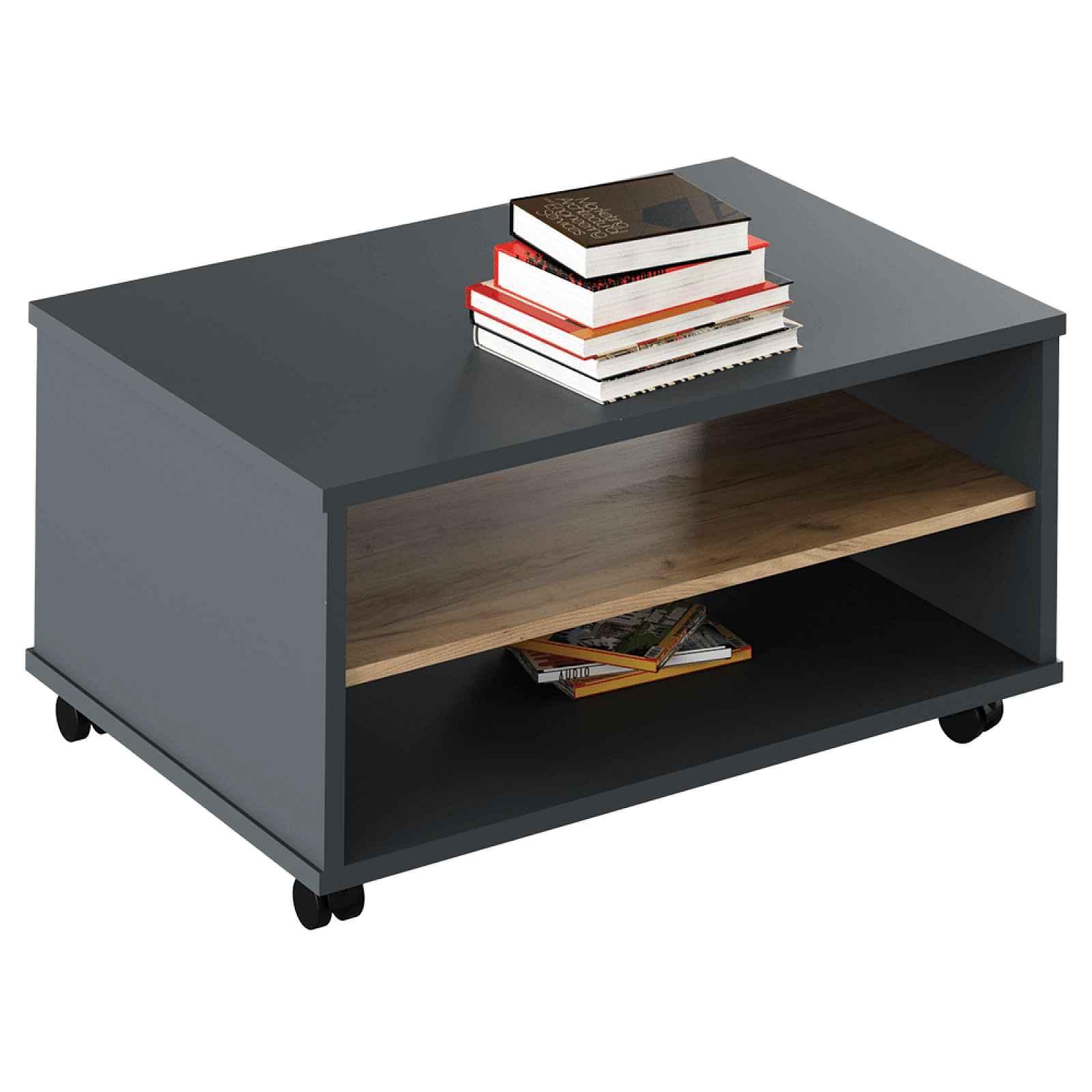 Konferenční stolek RIOMA TYP 32 Tempo Kondela Grafit / dub artisan