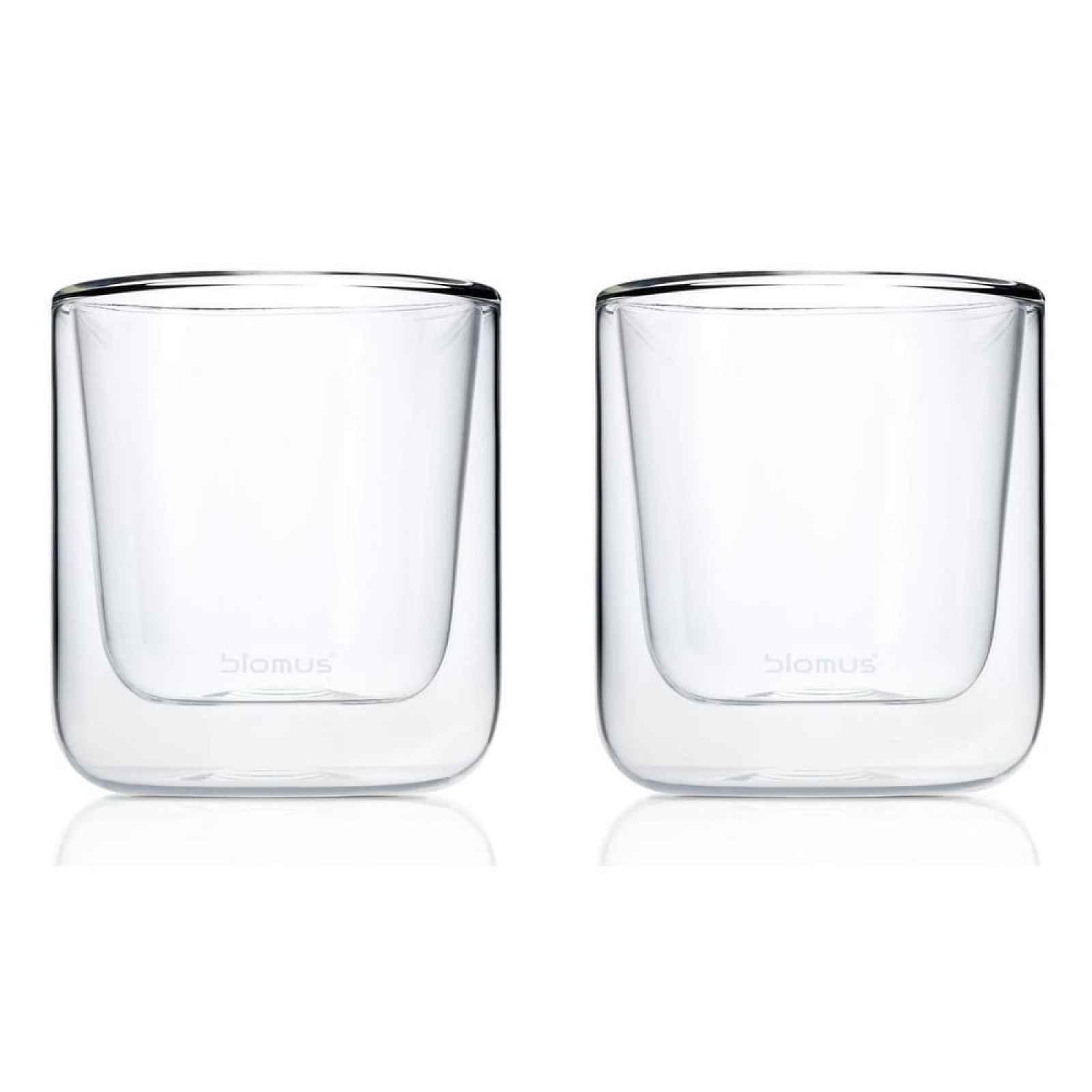Sada 2 dvojitých šálků na kávu Blomus Nero, 200ml