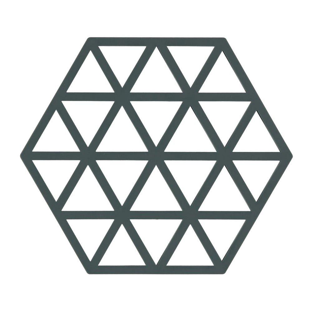 Šedozelená silikonová podložka pod horké nádoby Zone Triangles