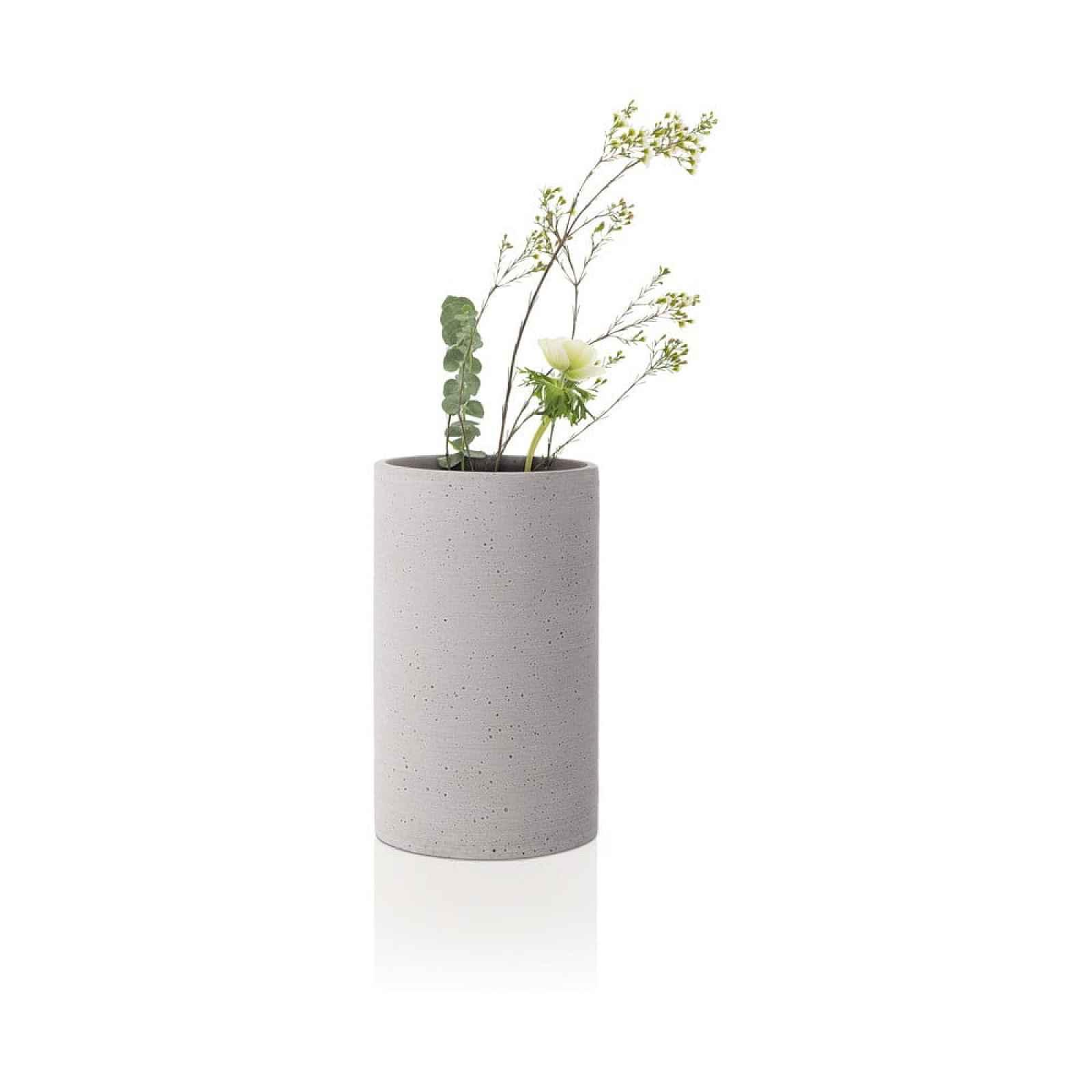 Světle šedá váza Blomus Bouquet,výška20cm