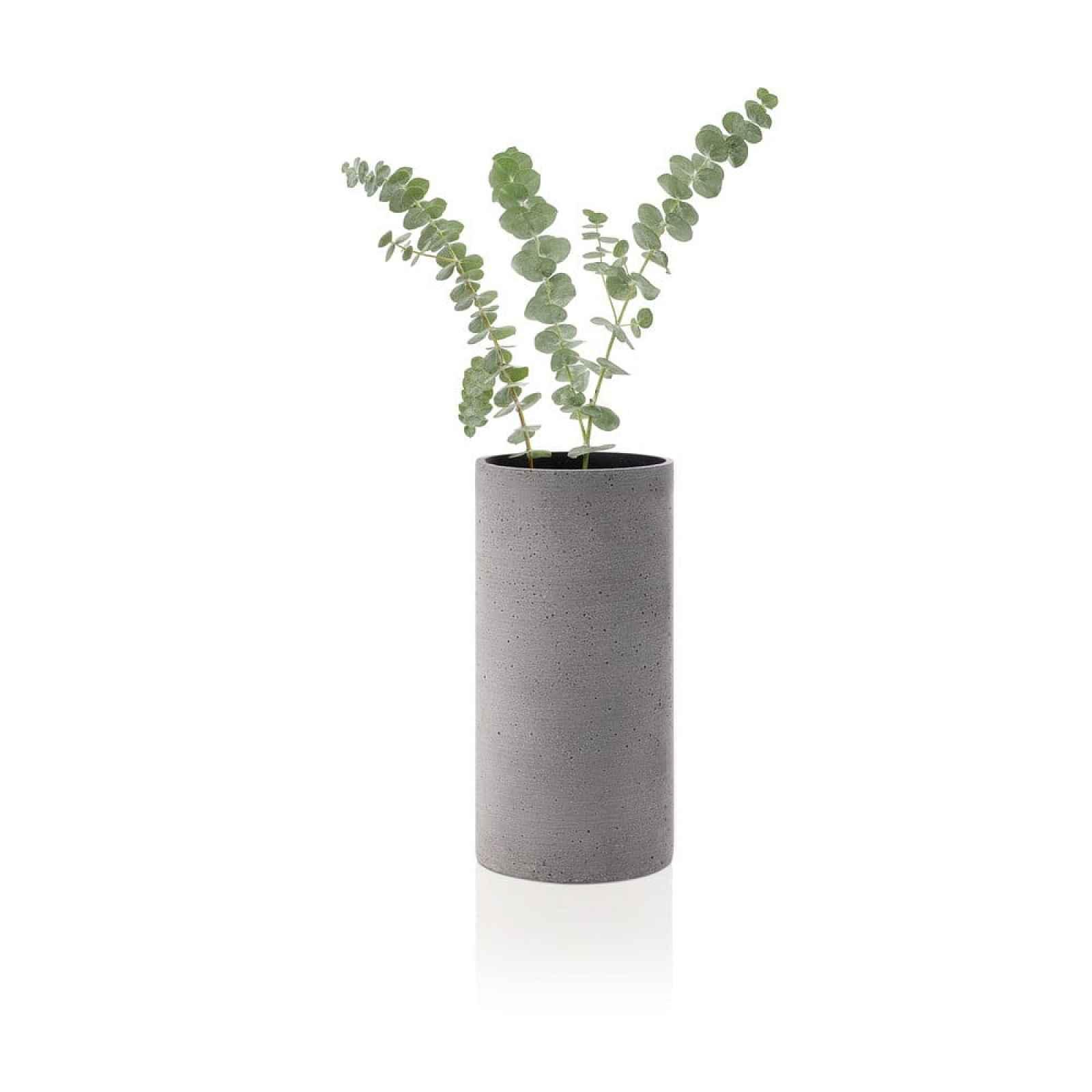 Šedá váza Blomus Bouquet,výška24cm