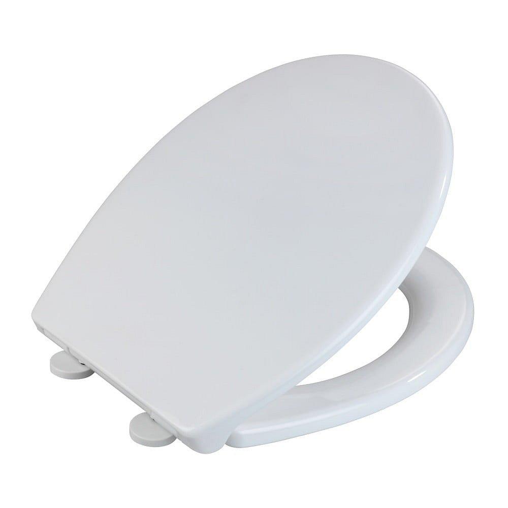 Bílé WC sedátko z termoplastu Wenko Korfu