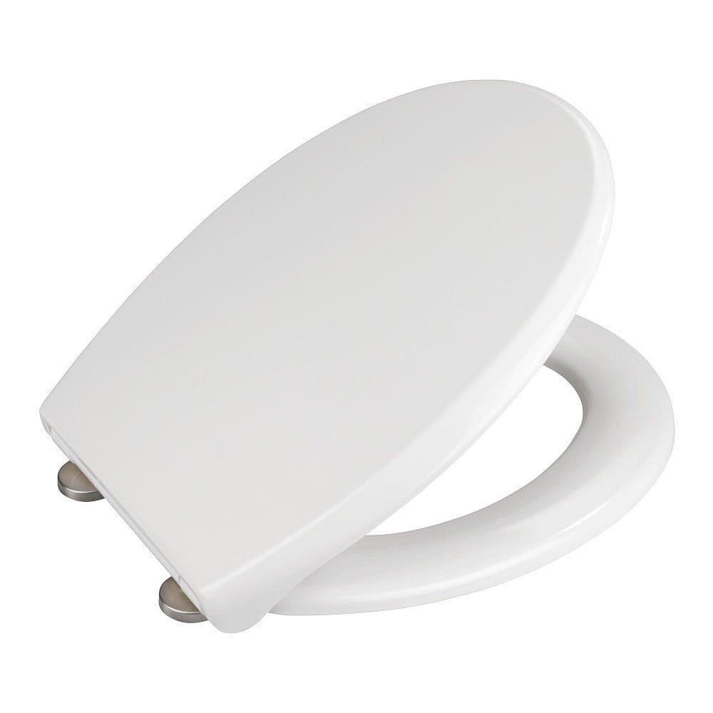 Bílé WC sedátko z duroplastu Wenko Furlo
