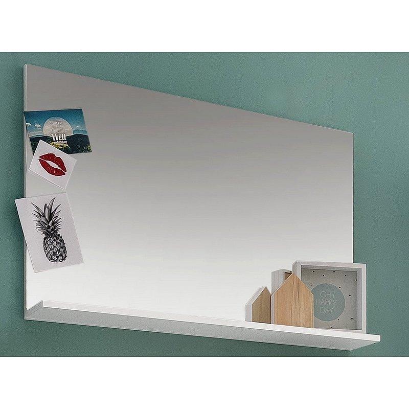 Nástěnné zrcadlo s policí Amanda 451, bílé