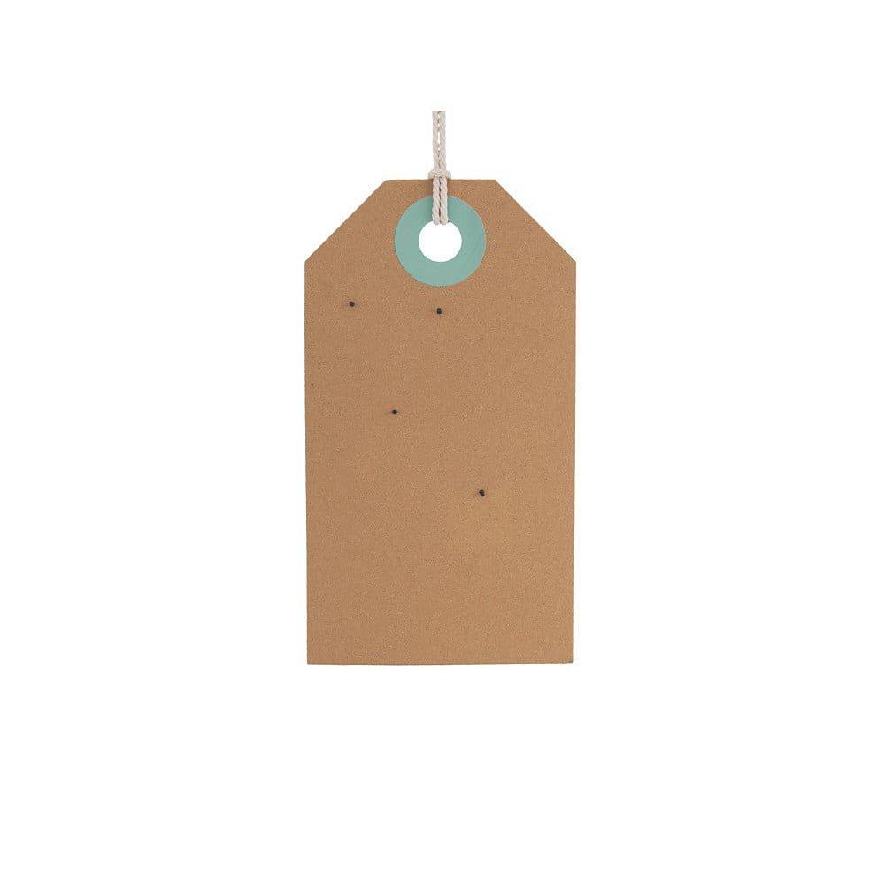Korková nástěnná tabule s detaily v zelené a modré barvě PT LIVING Memo Board, 60 x 34 cm