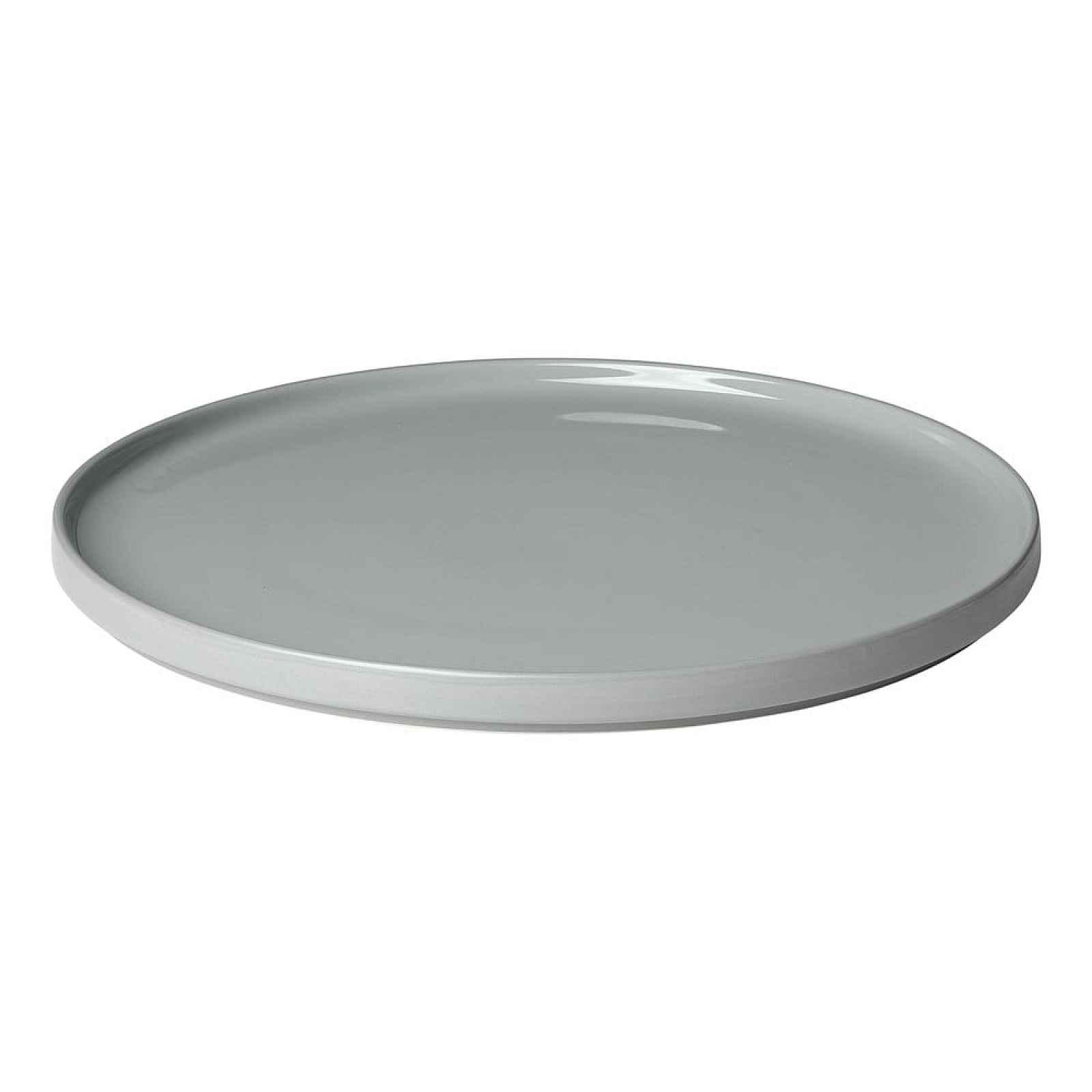 Šedý keramický servírovací talíř Blomus Pilar