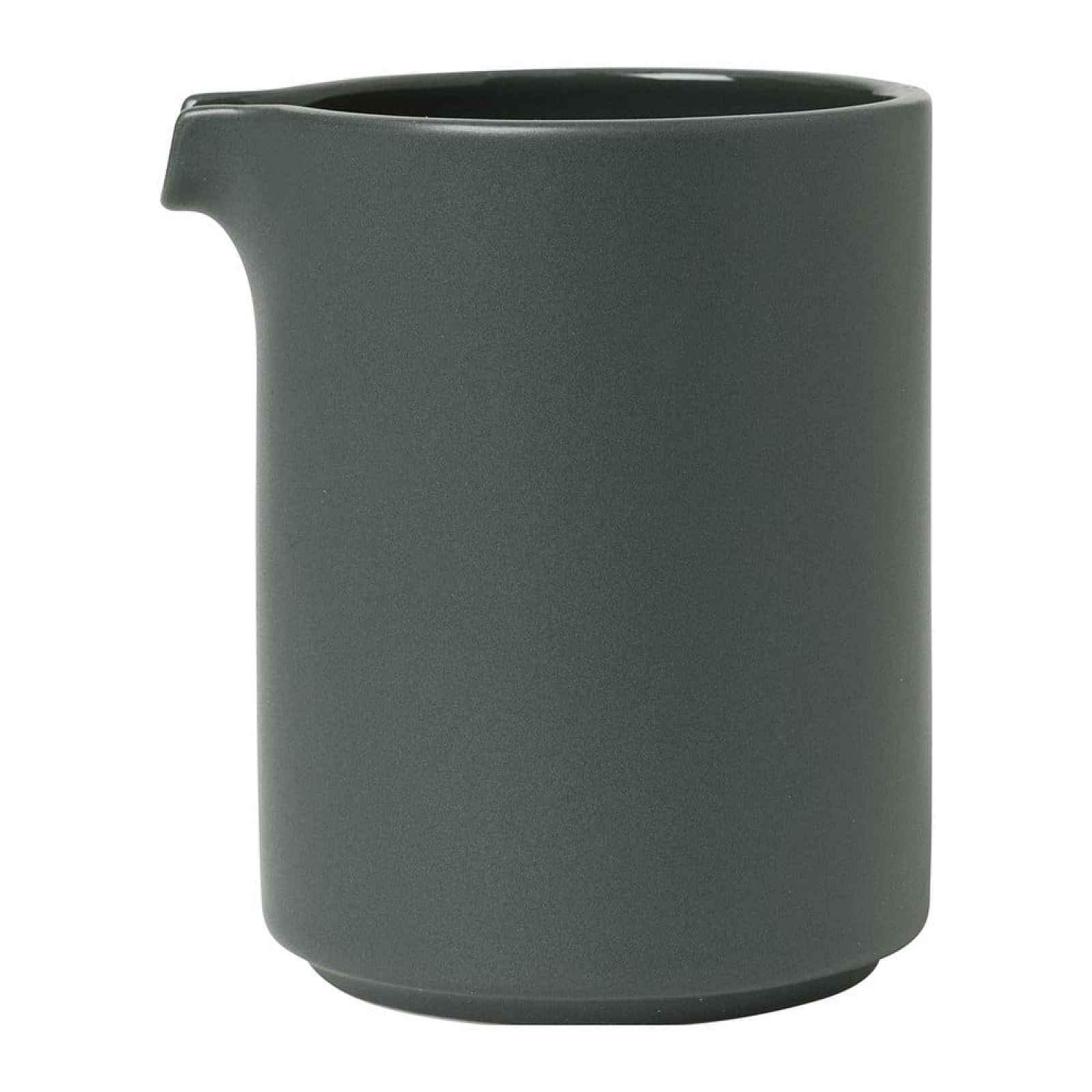 Tmavě šedá keramická mléčenka Blomus Pilar,280 ml