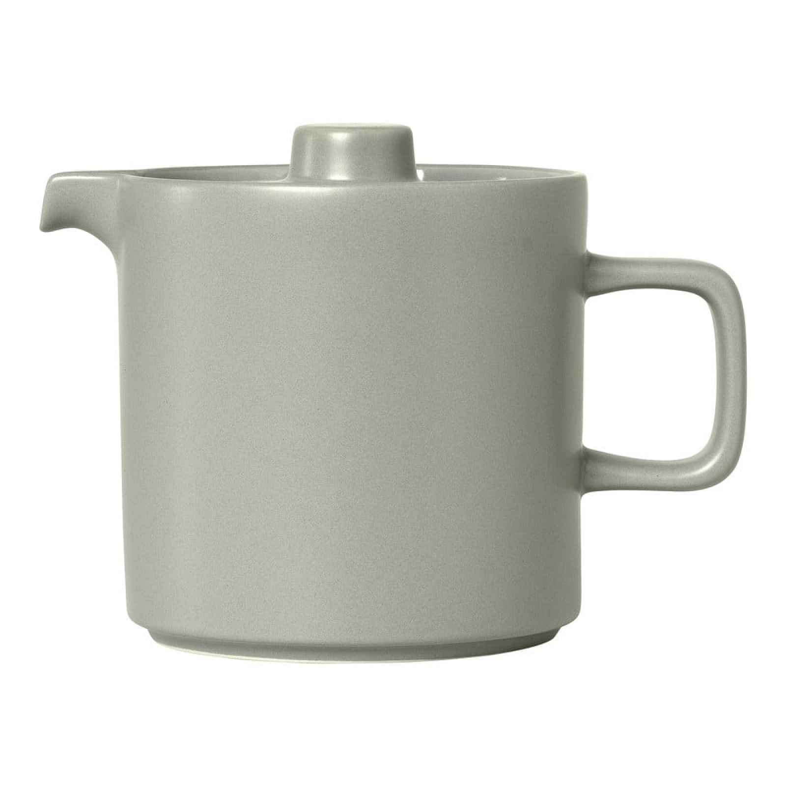 Světle šedá keramická čajová konvice Blomus Pilar,1l