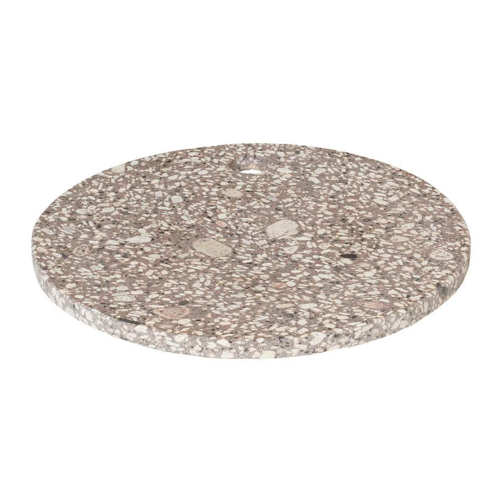 Béžové servírovací prkénko Blomus Stone,ø20cm