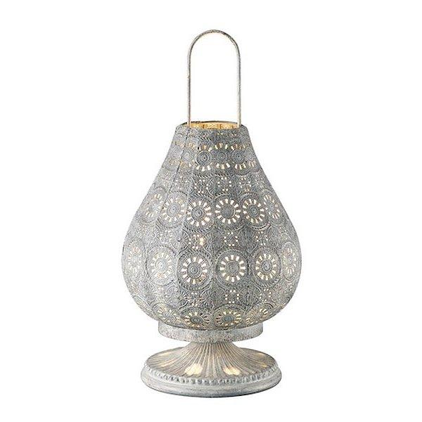 Stolní lampa Jasmin 503700161, šedobílá antik