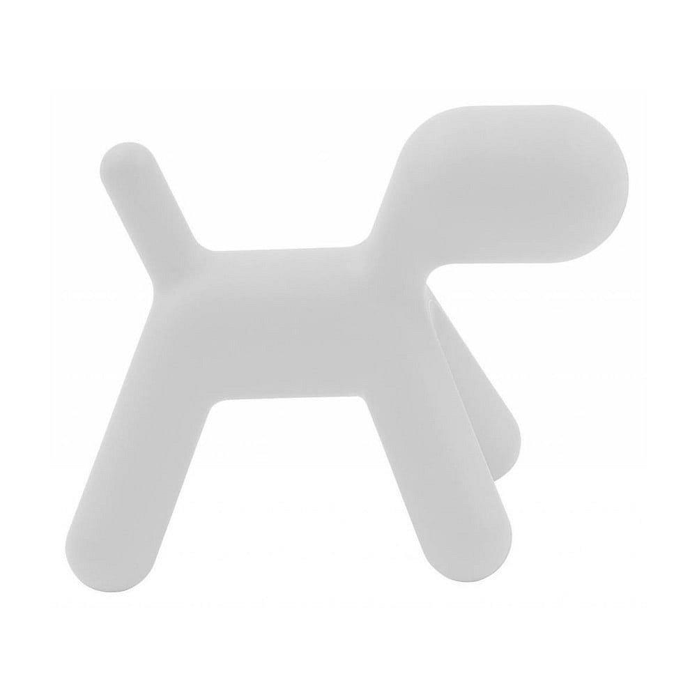 Bílá dětská stolička ve tvaru psa Magis Puppy, výška81cm