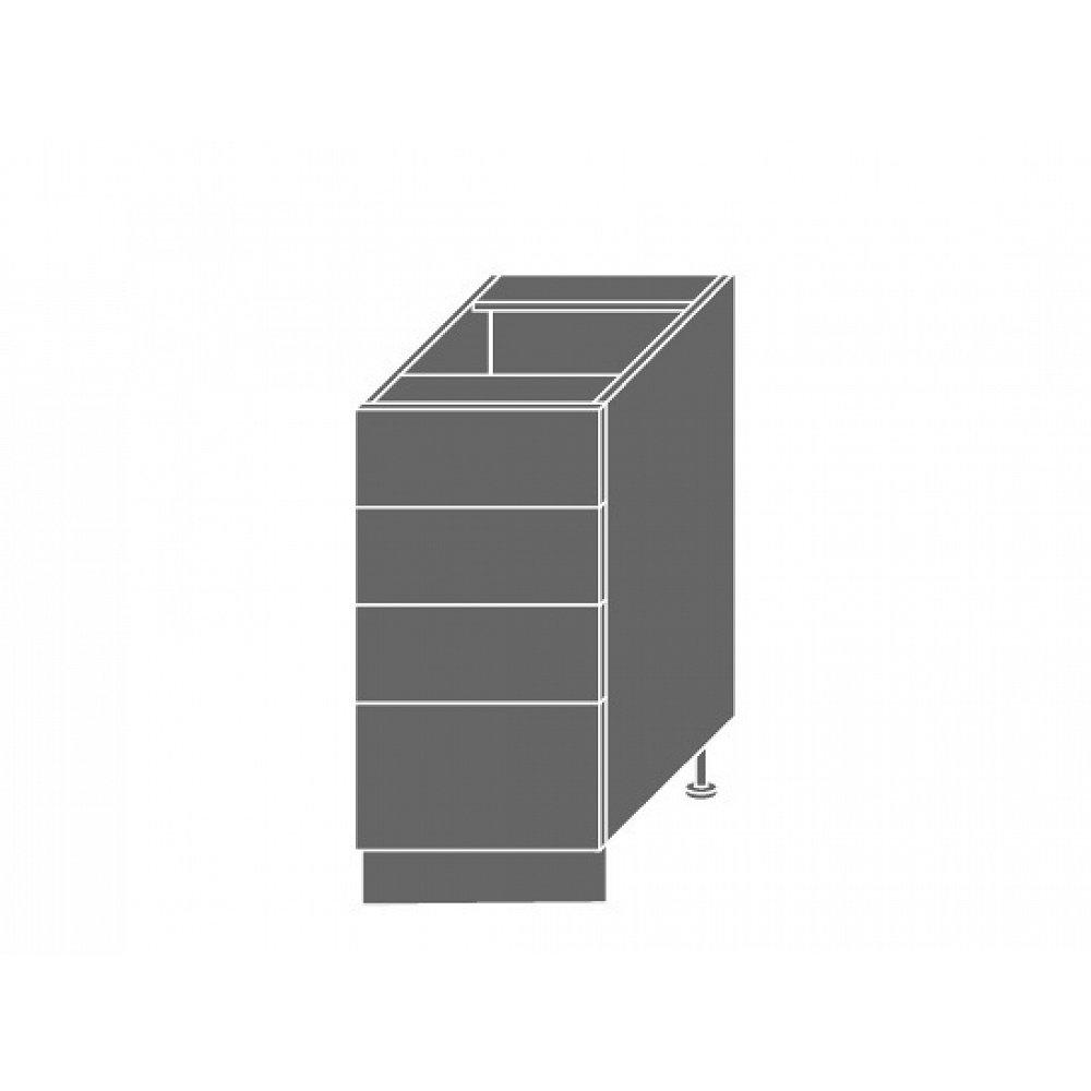TITANIUM, skříňka dolní D4m 40, korpus: bílý, barva: fino černé
