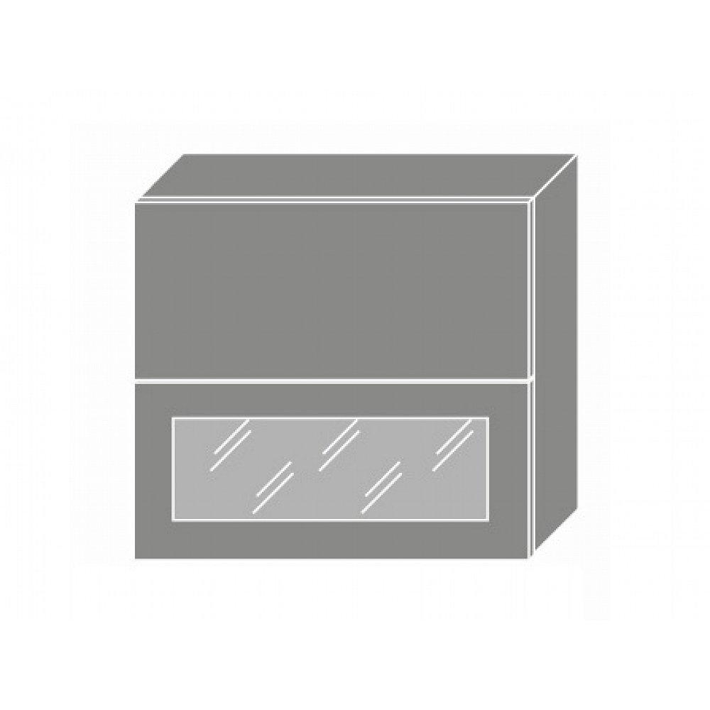 QUANTUM, skříňka horní W8BS 80 AV WKF, vanilla mat/bílá