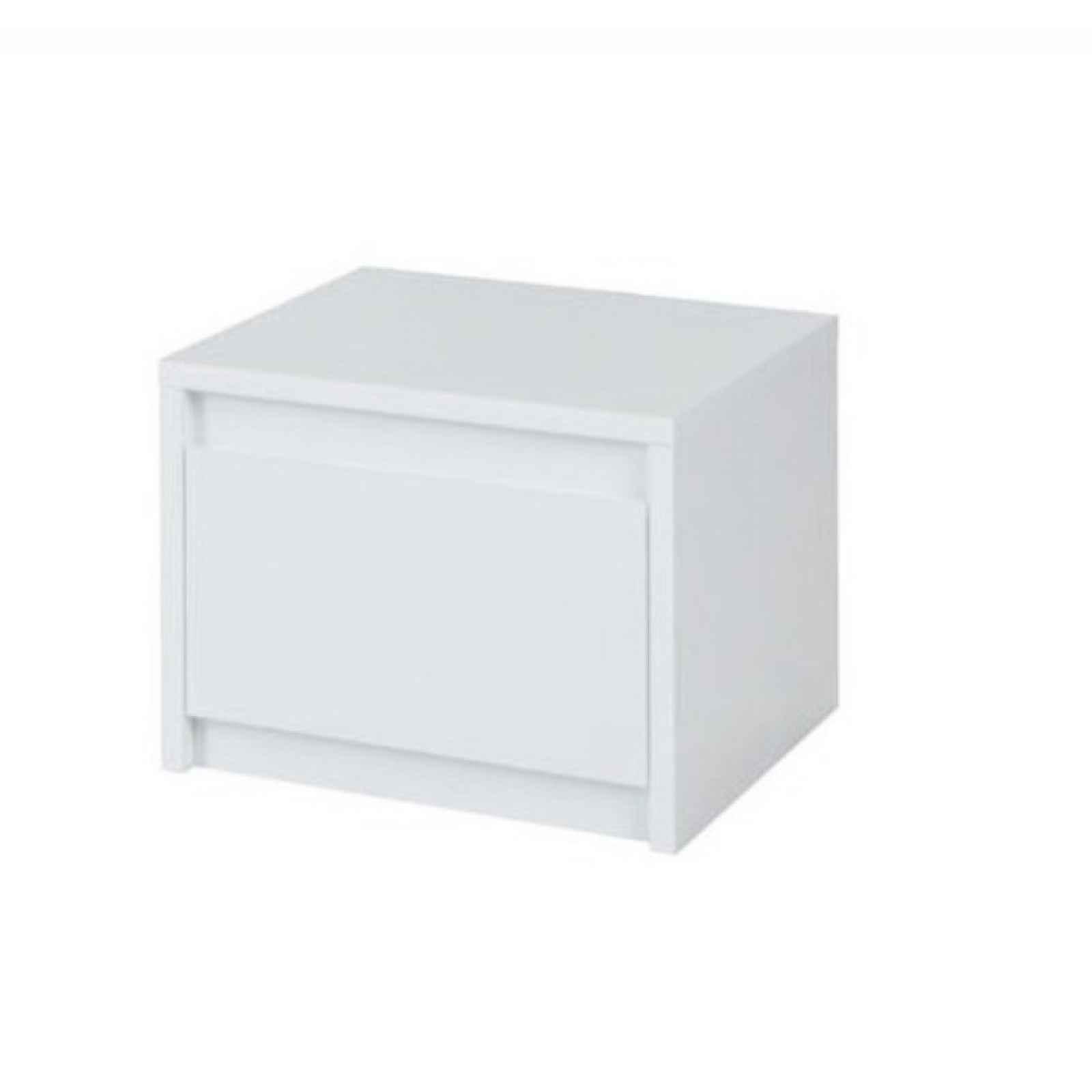 2x noční stolek, bílá / extra vysoký lesk HG, ITALIA 0000210540 Tempo Kondela