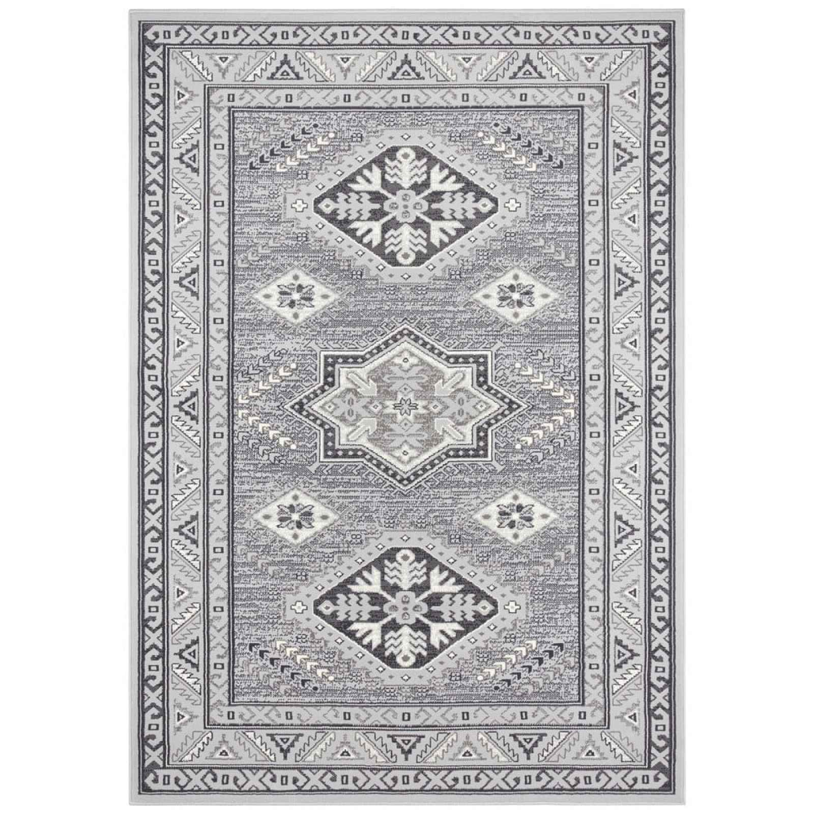 Světle šedý koberec Nouristan Saricha Belutsch, 200 x 290 cm