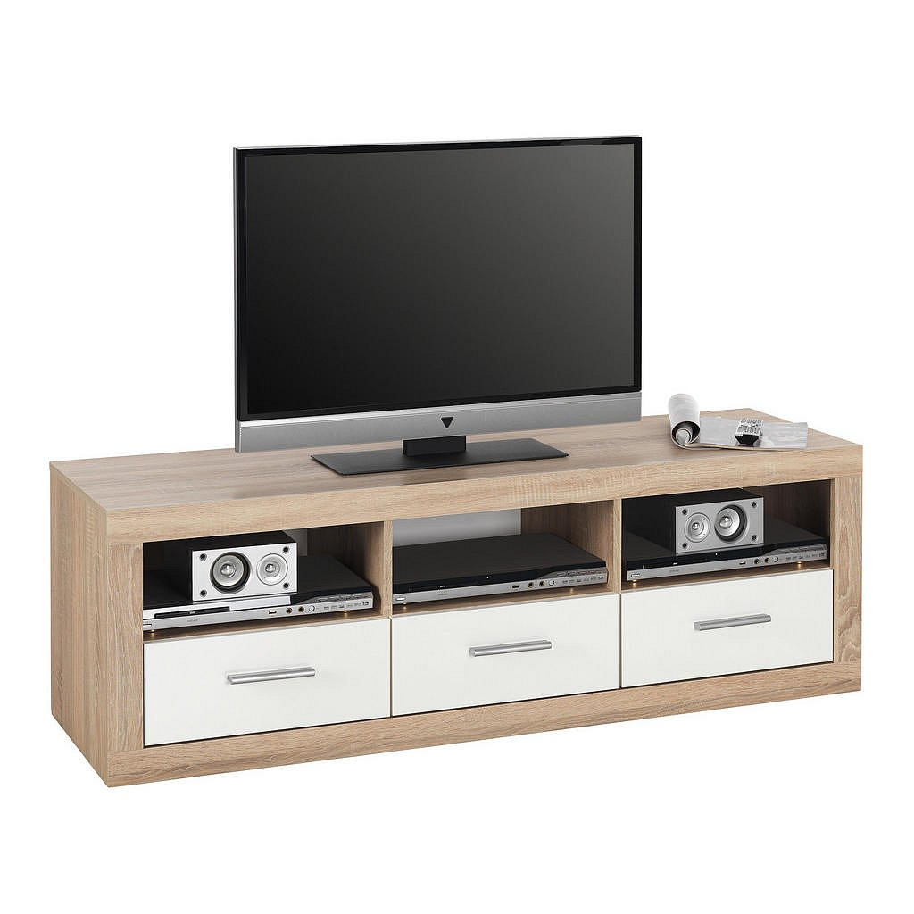 Boxxx Tv Díl, Bílá, Sonoma Dub - Televizní stolky - 000887002208