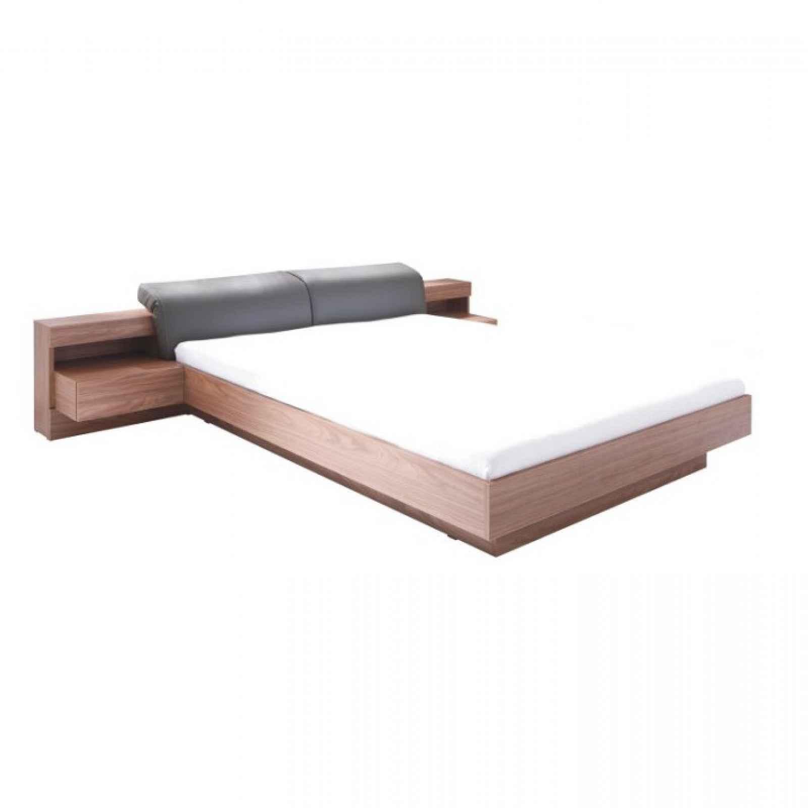 Manželská postel, 160x200, ořech / grafit, REKATO 0000210555 Tempo Kondela