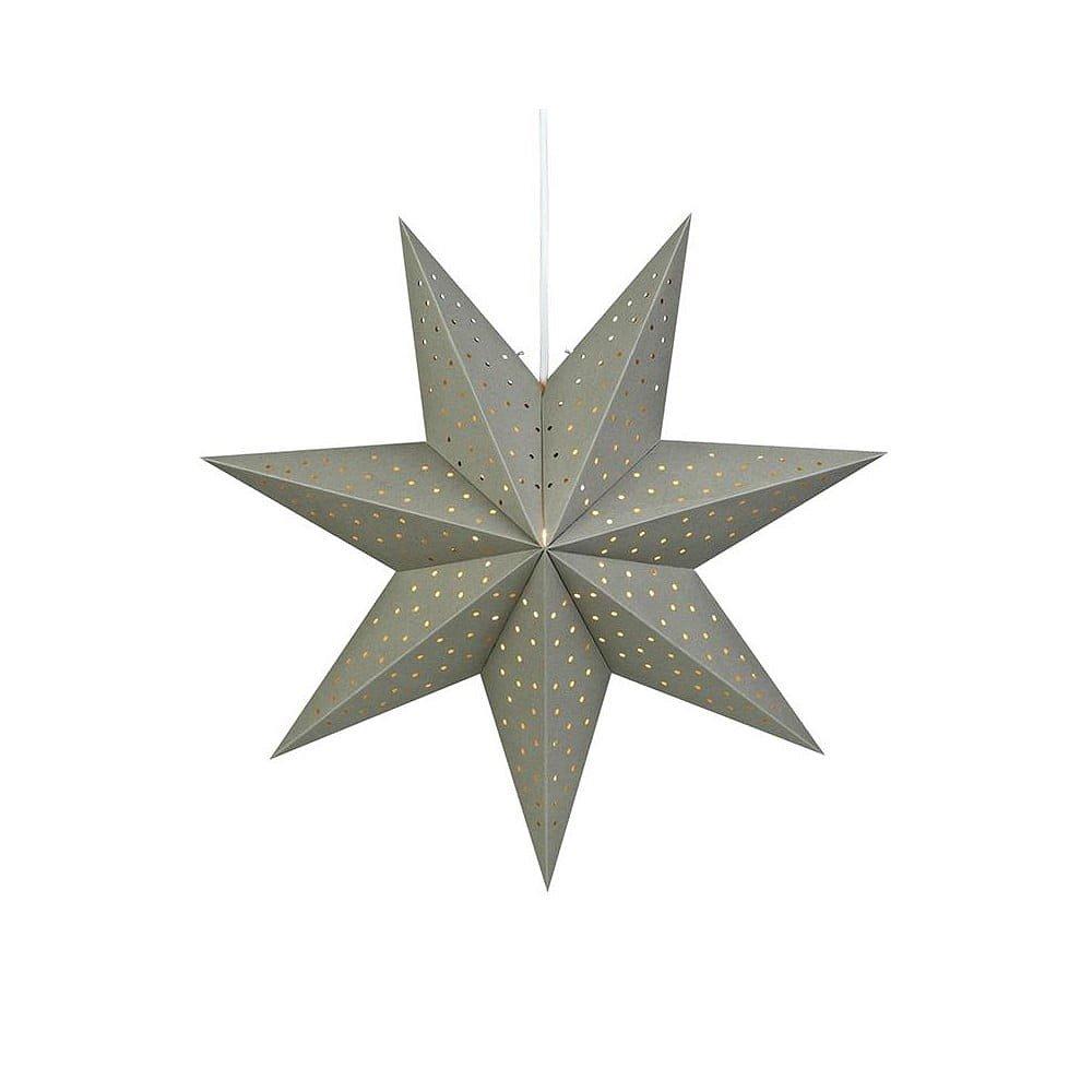 Šedá světelná závěsná dekorace Markslöjd Morris, výška 45 cm